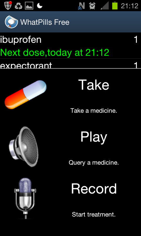 NFC Pill Reminder - screenshot