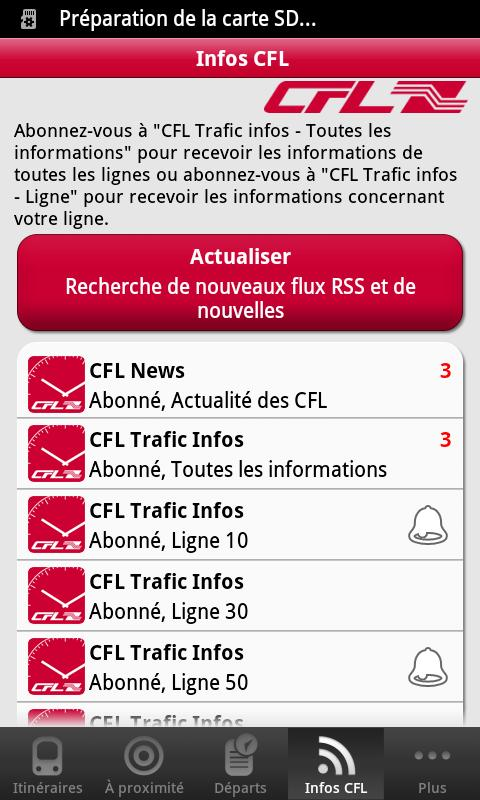 CFL mobile - screenshot