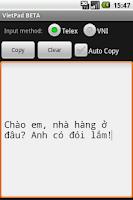 Screenshot of VietPad BETA
