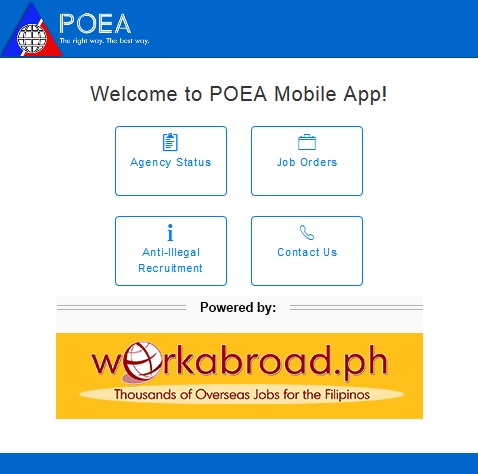 POEA Mobile- screenshot