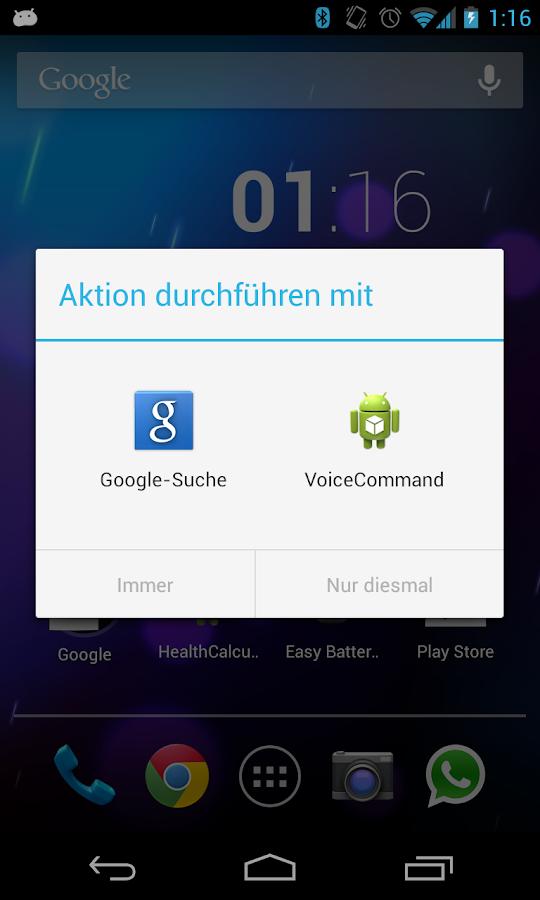 Voice Command - screenshot