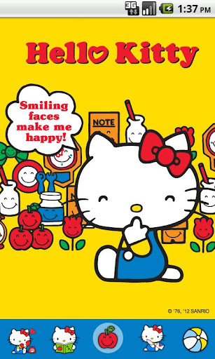 Hello Kitty Happy Face Theme