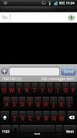 Screenshot of Shadow Red Keyboard Skin