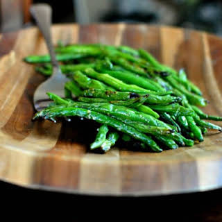 Grilled Fresh Green Beans.