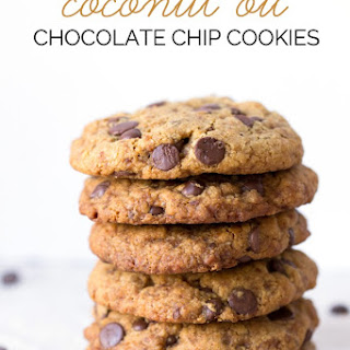 Vegan Coconut Oil Chocolate Chip Cookies.