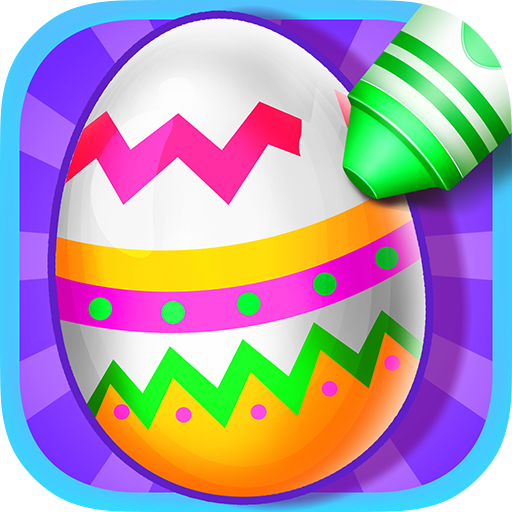 Kids Color Book - Easter Eggs