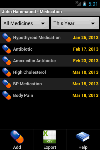 Cholesterol Tracker- screenshot