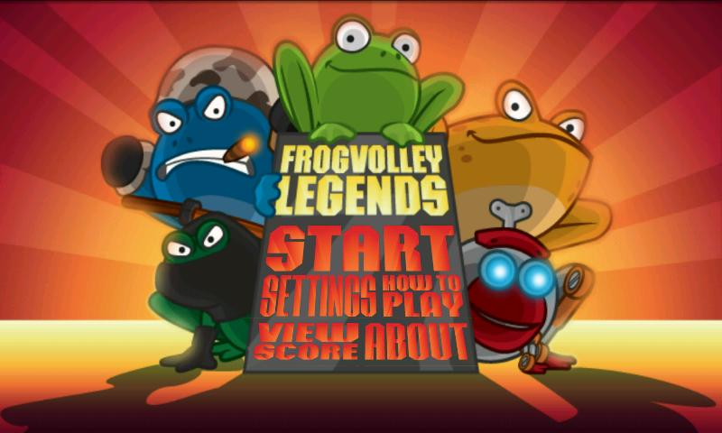 Frog Volley- screenshot