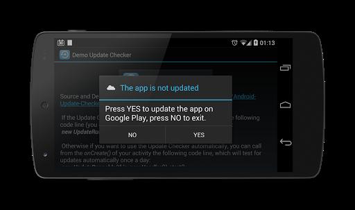 Android Update Checker Screenshot