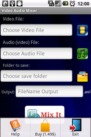 Video Audio Mixer Pro- screenshot