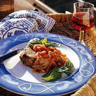 Tuna with Tomato-Basil Sauce.