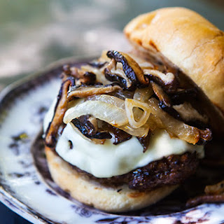 Grilled Beef and Mushroom Burger.