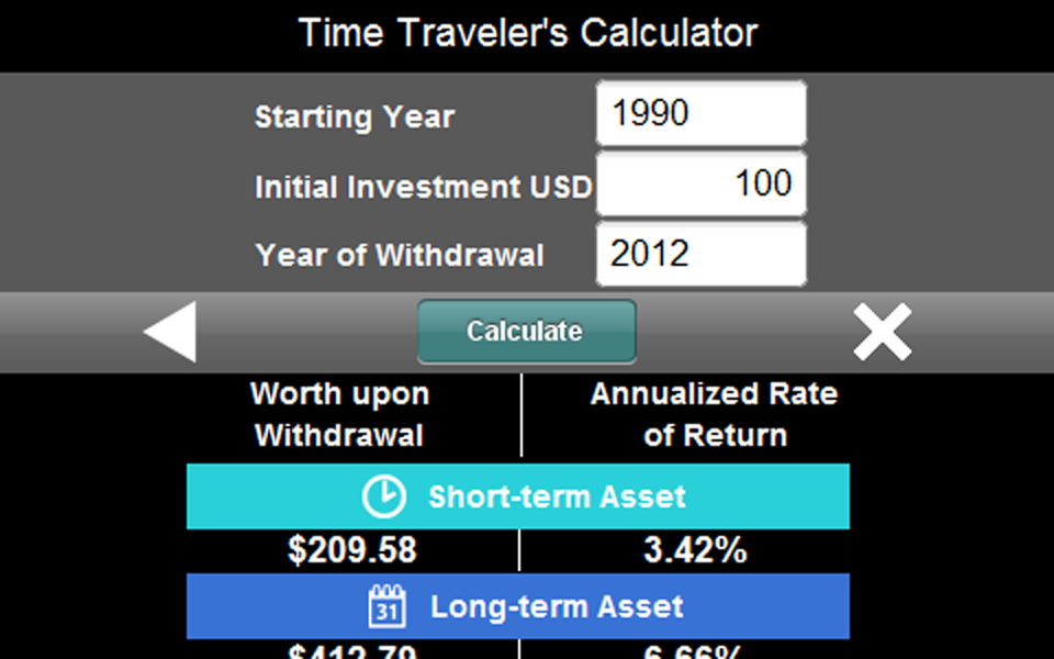 Time Traveler's Calculator - screenshot
