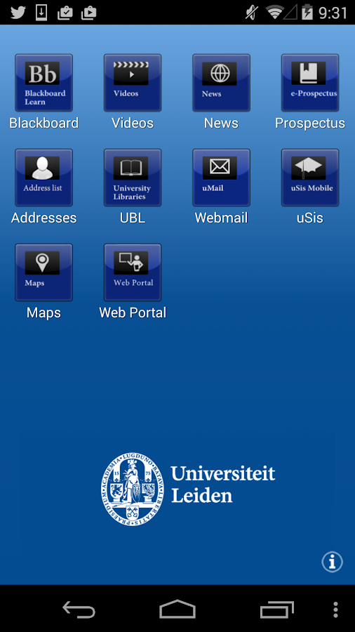 Leiden Univ- screenshot