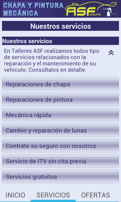 Talleres ASF- screenshot