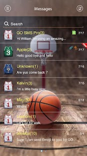 GO SMS PRO DUNK THEME - screenshot thumbnail