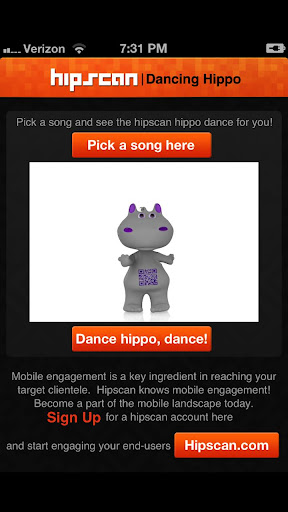 The Hipscan Dancing Hippo