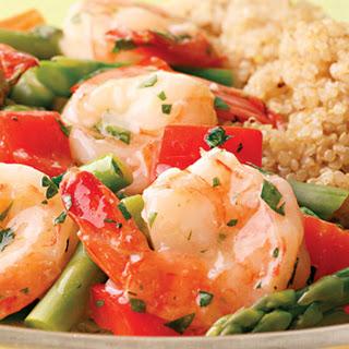 Lemon-Garlic Shrimp and Vegetables.
