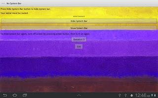 Screenshot of No System Bar