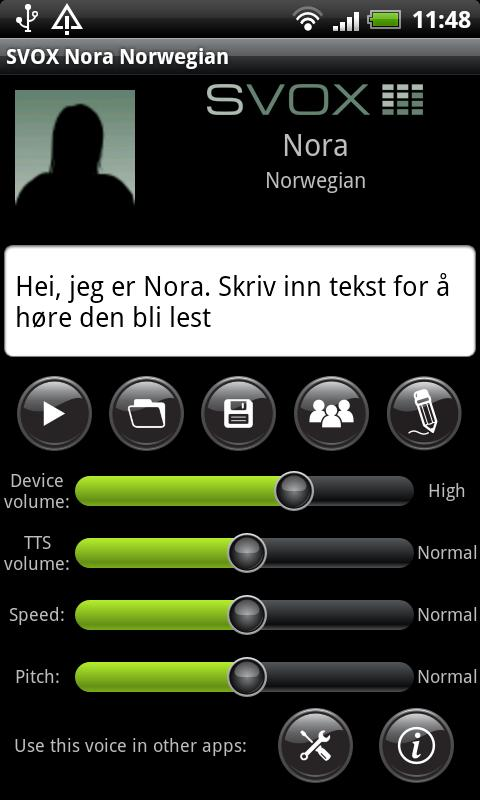 SVOX Norwegian Nora Voice - screenshot