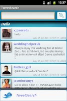 Screenshot of TweetSearch