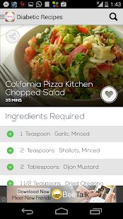 Diabetic Recipes Free - screenshot thumbnail