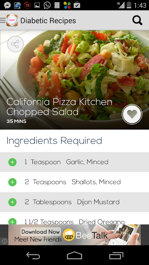 Diabetic Recipes Free - screenshot