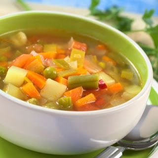 Stunning Slow Cooker Vegetable Soup.