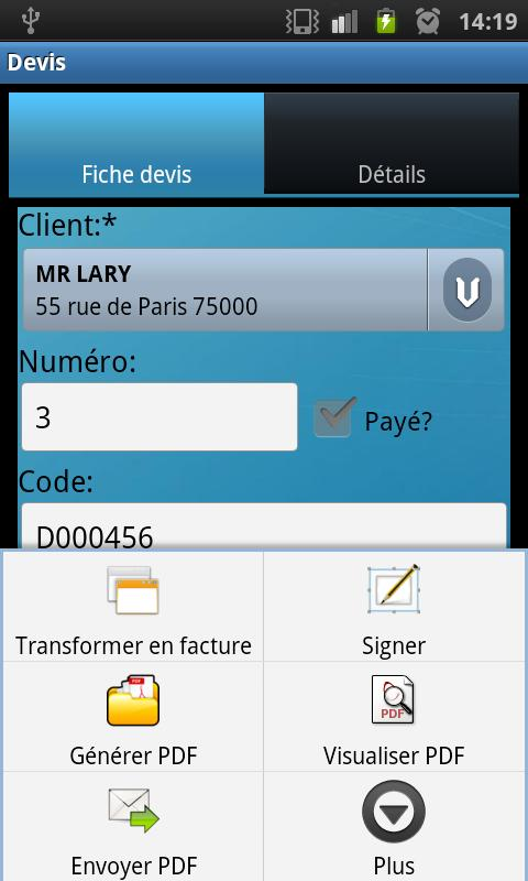 Quotes and Invoices Manager- screenshot