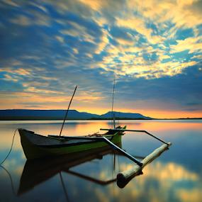 The Jukung by Gus Mang Ming - Transportation Boats ( bali #jukung #sunrise,  )