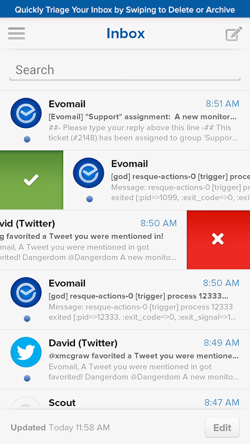 Evomail - Gmail, Yahoo & more! - screenshot