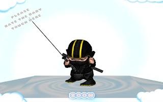 Screenshot of Baby Ninja Dance