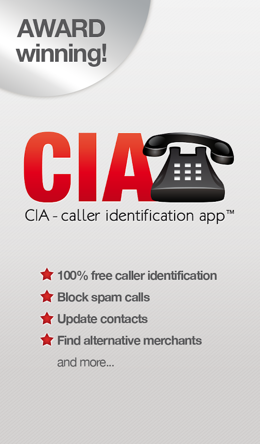 CIA - free caller id - screenshot