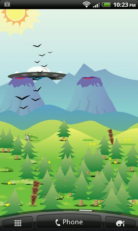 Vectorized Mountains LWP HD - screenshot
