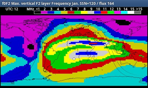 HF_MAP Sky Wave propagation- screenshot