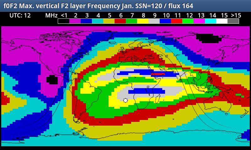 HF_MAP Sky Wave propagation- screenshot