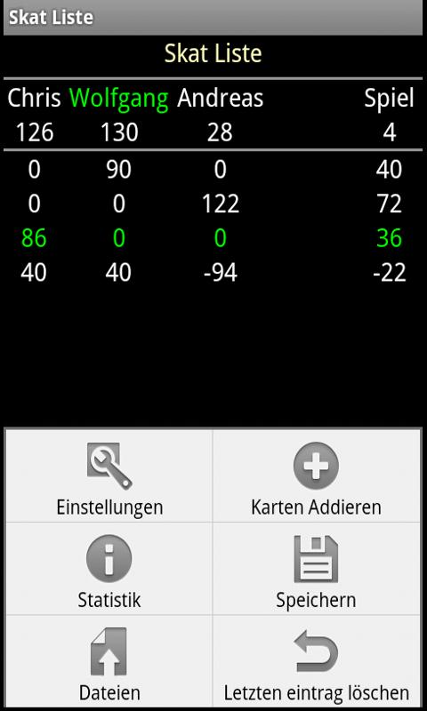 Skat Score- screenshot