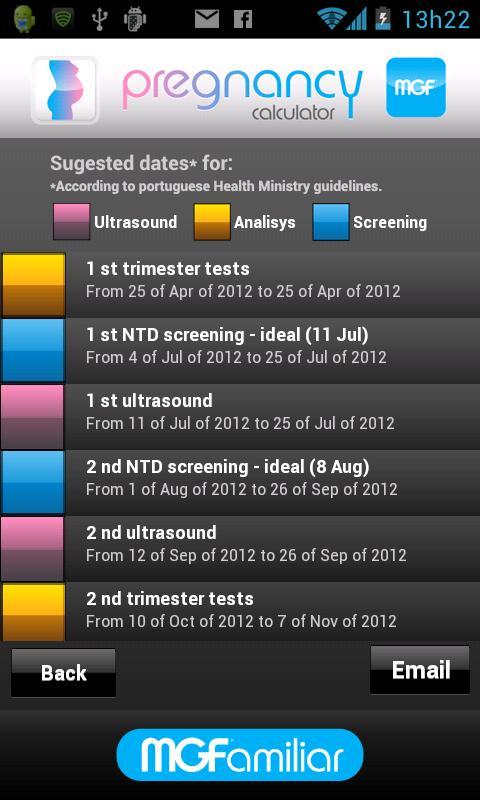 Pregnancy Calculator- screenshot