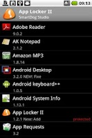 Screenshot of App Lock II Widget Pro