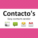 Contacto's PLUS share contacts logo
