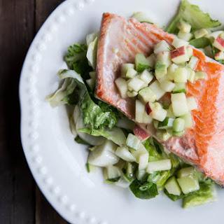 Salmon with Apple, Cucumber, Avocado Salsa