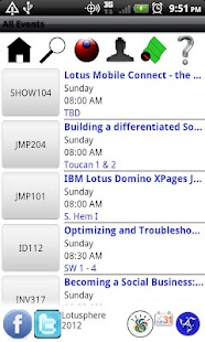 Lotusphere 2012 Scheduler- screenshot thumbnail