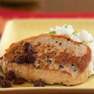 Pork with Port Wine and Raisin Sauce Recipe