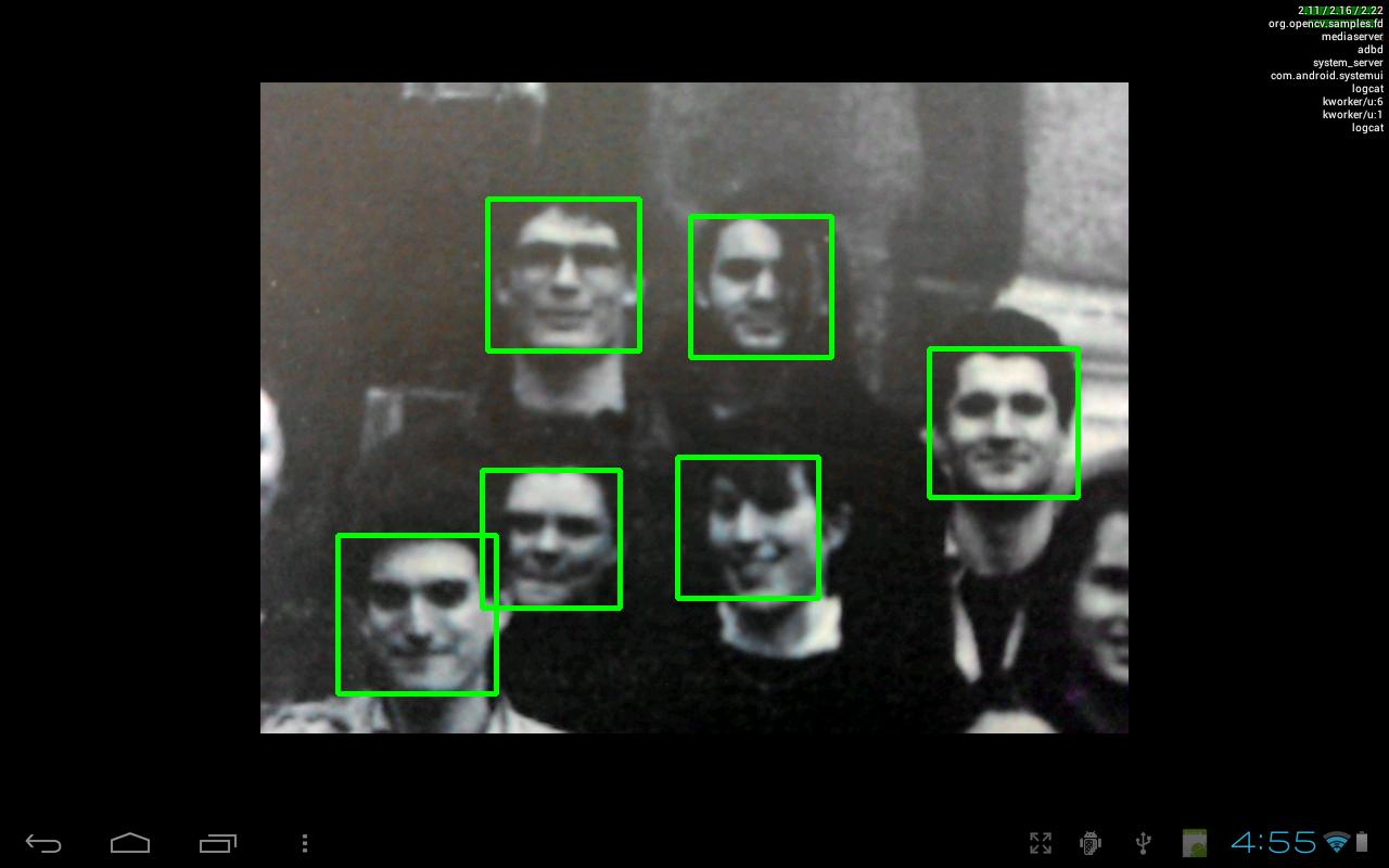 OpenCV Face Detection - screenshot