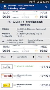 idealo Flug Preisvergleich – Miniaturansicht des Screenshots