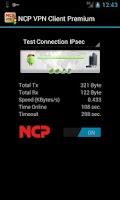 Screenshot of NCP VPN Client Premium