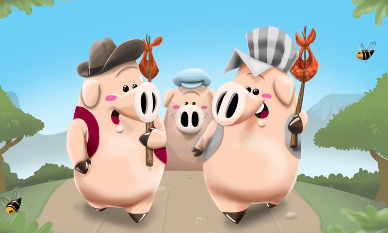 Drei kleine Schweinchen- screenshot