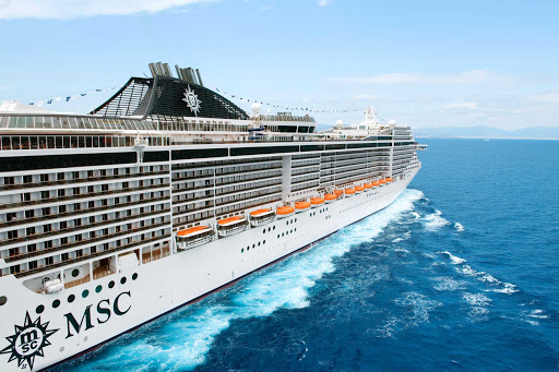 Streamlined and graceful, MSC Splendida cruises throughout the Mediterranean and northern Europe.