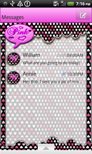 GO SMS THEME VeryGirly2