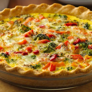 Italian Pepperoni-Vegetable Quiche
